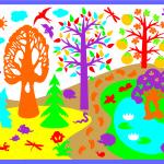 фиолет лес1